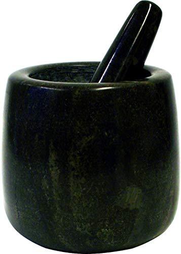 JADE TEMPLE Steinmörser mit Stößel im Set, effektives und einfaches mörsern, aus massivem Granit mit 11 cm Durchmesser und 12 cm Höhe