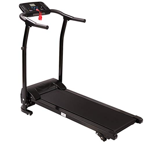 Electric Folding Treadmill | Home Gym Running Exercise Fitness Machine,Motorized Walking Jogging Treadmills w/Incline LCD Display and Bluetooth Speaker (from US, Silver)