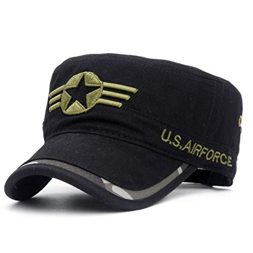 Militair muts Vintage mannen vijfster leger plat top militaire caps Air Force leger militaire hoed camouflag caps