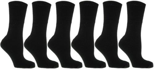 Thermal Socks Lot de 6 paires de chaussettes thermiques Femme Noir 37-40