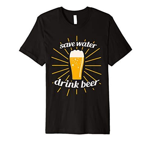 Save Water Drink Beer T-Shirt   Männer Frauen Kleidung