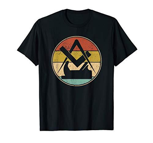 Lustiges Retro Vintage Tischler Zunft Symbol Geschenk T-Shirt