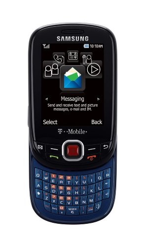 Samsung Elevate T356 Unlocked GSM Slider Phone with QWERTY Keyboard, 1.3MP Camera, Video, A-GPS, Bluetooth, SNS Integration, MP3/MP4 Player and microSD Slot - Black/Blue
