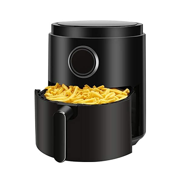 R.W.FLAME Air Fryer 5.3QT,Electric Stainless Steel Hot Air Fryer,LED Display,Timer & Temperature Setting,Unfreeze…