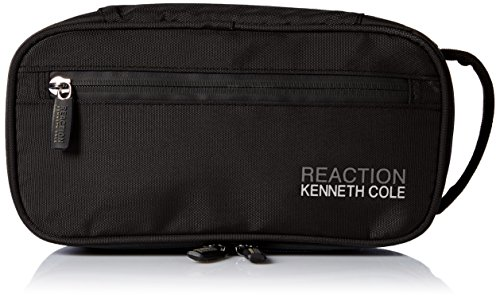 Kenneth Cole REACTION Men's Compact Nylon Travel Kit, black, 100