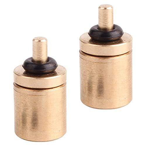 CLISPEED 2 Piezas Adaptador de Estufa de Gas Propano para Tanques de Propano Repuesto Adaptador Regulador Válvula Accesorio para Tanque Pequeños Cilindros Dorado