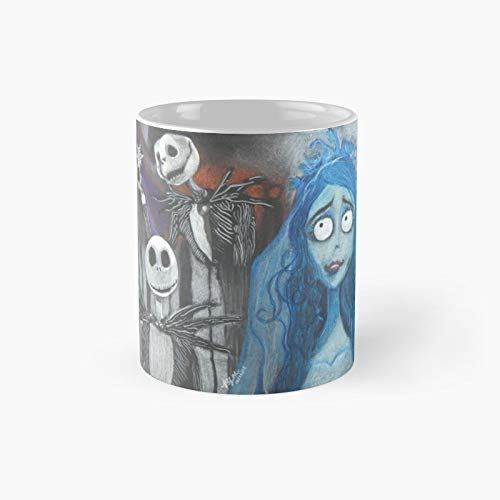 Taza clásica de Tim Burton con personajes | El mejor regalo divertidas tazas de café de 325 ml