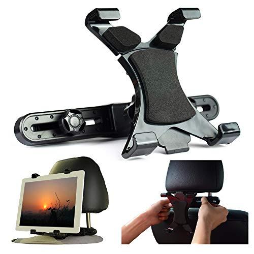Ejut® Tablet Halterung Auto Kopfstütze KFZ Halter Universal Kopfstützen-Halter Tablethalterung für Pad Mini Air 2 3 4 5 2018 Pro 9.7, 10.5 Tab mit 7-12.5 Zoll