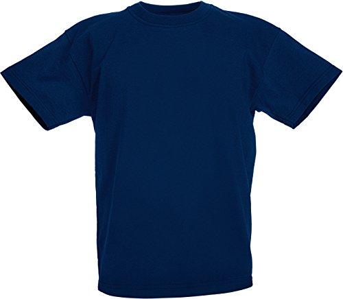 Fruit of the Loom Jungen T-Shirt, Marineblau, 9 Jahre