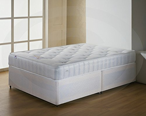 Classic Single Divan Bed with Ortho Mattress No Headboard