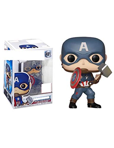 WangMaZi FUNKO POP Captain America Film Steve Rogers Super Hero Movie Doll Toy Cartoon Figure Doll Model Ornaments Collection