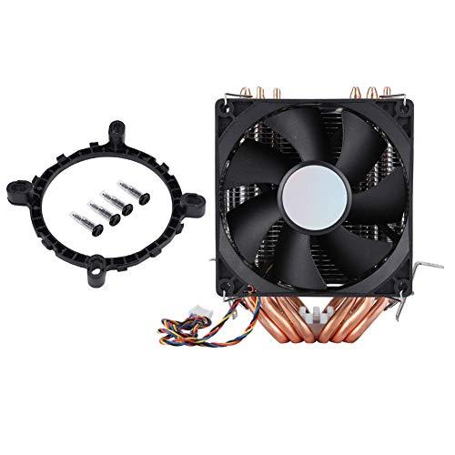 Enfriador de CPU, kit de piezas de reparación del ventilador de la caja de enfriamiento de la computadora, disipación de calor silenciosa, tubo de calor de 4 pines 6, 800-2200 revoluciones/minuto