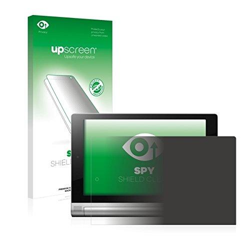 upscreen Spy Shield Clear Blickschutzfolie / Privacy für Lenovo Yoga Tablet 2 8.0 2-830F Android (Sichtschutz ab 30°, Kratzschutz, selbstklebend)