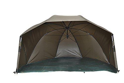 MK-Angelsport Fast Session Brolly Shelter Zelt wie Bivvy Zelt Angelzelt incl. Gummihammer