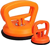 2-Pack Suction Cup Dent Puller for Car, Dent Remover, Beauty HAO Powerful Traceless Dent Repair Tools for Cars, Handle Lifter, Glass, Tiles, Mirror Lifting and Objects Moving Tool (Orange-2)