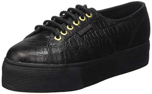 SUPERGA 2790-Fglwembcocco, Sneaker, Donna, Nero (A09 Full Black), 38