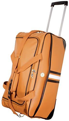 Trendyshop365 XL Reisetasche für Damen 70 cm 77 Liter 2 Räder (orange)