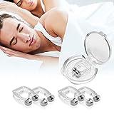 Premium Schnarchstopper, 4 Stück Anti Schnarch Nasenclip Silikon Nasenspreizer Magnetischen Nasenklammer für Möglich Bessere Atmung
