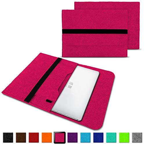 NAUC Laptoptasche Sleeve Schutztasche Hülle für Trekstor Surfbook W1 W2 Netbook Ultrabook 14,1 Zoll Laptop Filz Case, Farben:Pink