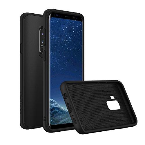 RhinoShield Coque Compatible avec [Galaxy S9+ (Plus)] | SolidSuit - Housse Fine avec Technologie Absorption des Chocs & Finition Premium - [Résiste aux Chutes de Plus de 3,5 mètres] - Noir Classic