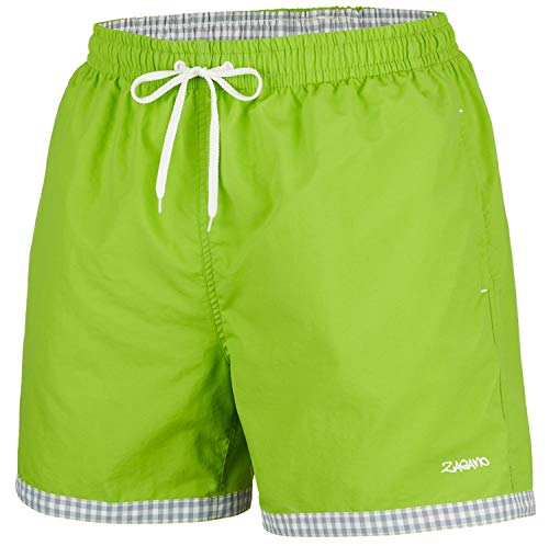 Zagano Hög kvalitet herr pojkar badbyxor 5113 med solskydd I snygg nylon män shorts simning fritid vattensport strand I moderna badshorts i ljusa färger storlek S – 6XL