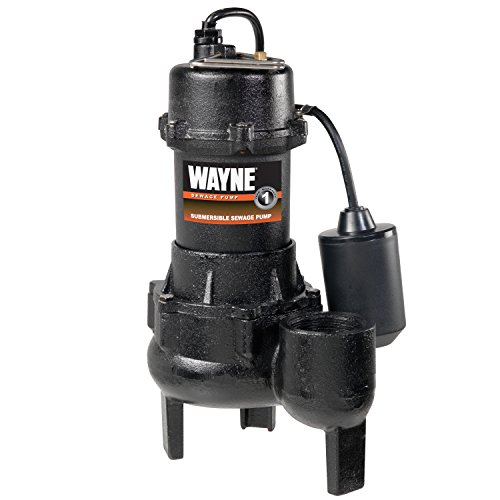 Wayne RPP50 Cast Iron Sewage Pump with Piggy Back Tether Float...