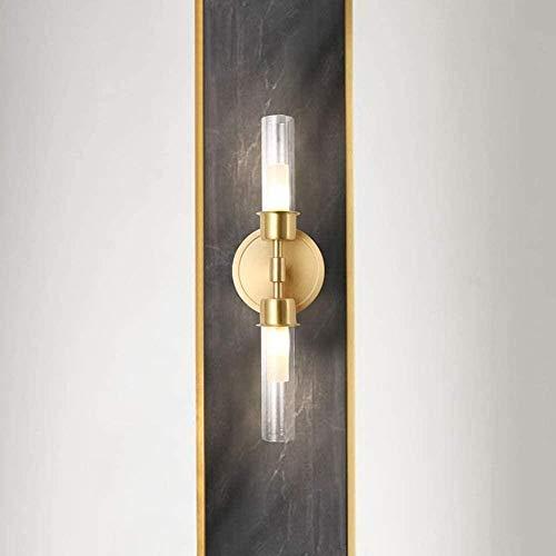 Sconce wandlamp helder koper muur lamp moderne woonkamer achtergrond slaapkamer nachtkastje glas gouden dubbele kop gang trap balkon muur lamp 12x9x39cm wandlampen