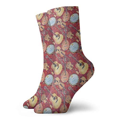 NA akoestische arangement snaren viool nieuwigheid bemanning sokken atletische sokken kousen 30CM