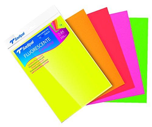 Sadipal 15429 Feinkarton, A4, fluoreszierende Farben, 5 Blatt