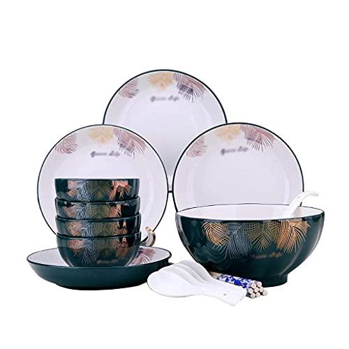 FAQUAN Vajilla Vajilla, vajilla y Juego de Platos, Platos Combinados para el hogar para 4 Personas, vajilla de cerámica Simple de cerámica