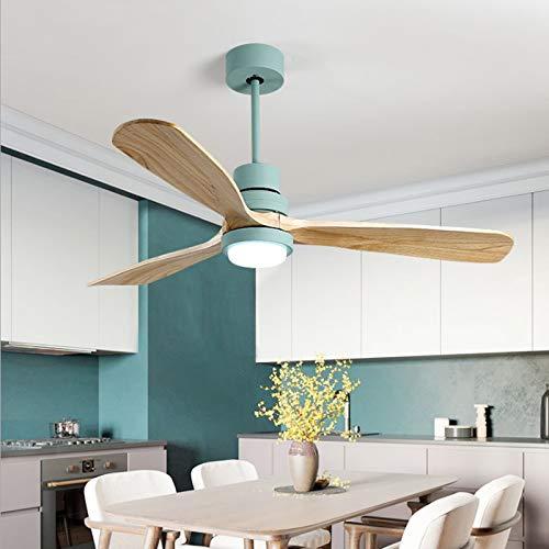 Araña de ventilador de madera maciza, sala de estar, comedor, luz de ventilador de dormitorio, conversión de frecuencia de energía eólica grande Ventilador de techo silencioso con luz ( Color : 6 )