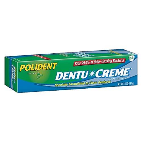 Polident Dentu-Creme Denture Cleaner - 3.9 oz, Pack of 3