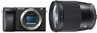ソニー SONY ミラーレス一眼 α6400 ボディ ブラック ILCE-6400 B + SIGMA 16mm F1.4 DC DN | Contemporary C017 | Sony Eマウント | APS-C/Super35 ミラーレス専用
