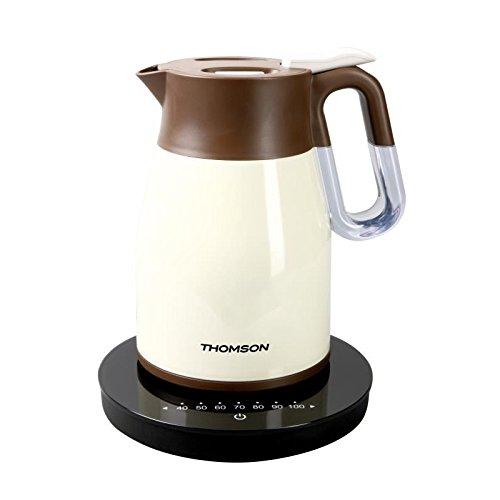 Bouilloire electrique sans fils, isotherme, 1,5 litres, crème