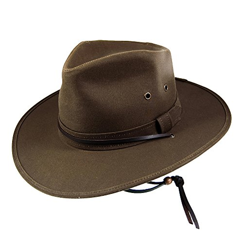 Jaxon & James Chapeau Australien en Toile Cirée Marron Medium