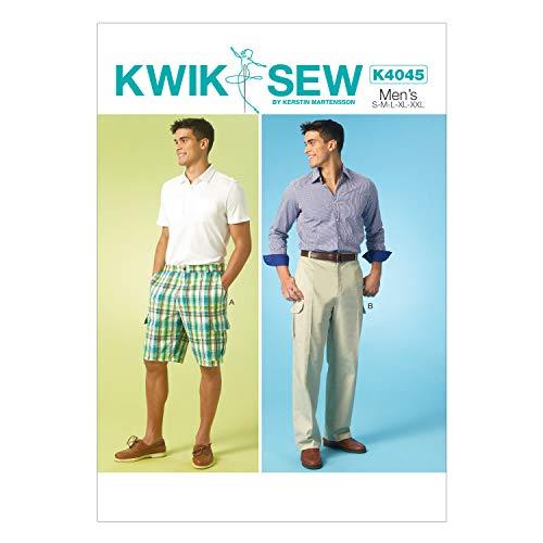 KWIK-SEW PATTERNS englisches Schnittmuster KwikSew 4045 Herrenhose S-XXL