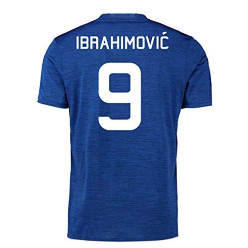 JXYA-Jersey Fútbol fútbol Camiseta (Zlatan Ibrahimović-9) Ropa de Deporte de fútbol Camisetas de los niños de los Hombres y de Las Mujeres y Ventiladores Deben. (Color : B, Size : M)