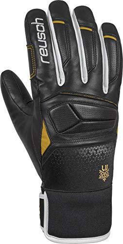 Reusch Damen Lindsey Vonn Handschuh, Black/White/Gold, 7.5
