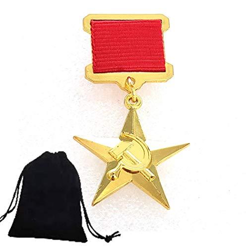 FKaiYin Divertida insignia nacional de héroe hecha a mano – Pin histórico soviético – Pin de insignia de Alemania – Esperanza para la paz – Recordando historia – Regalo para amigos experiencia futura
