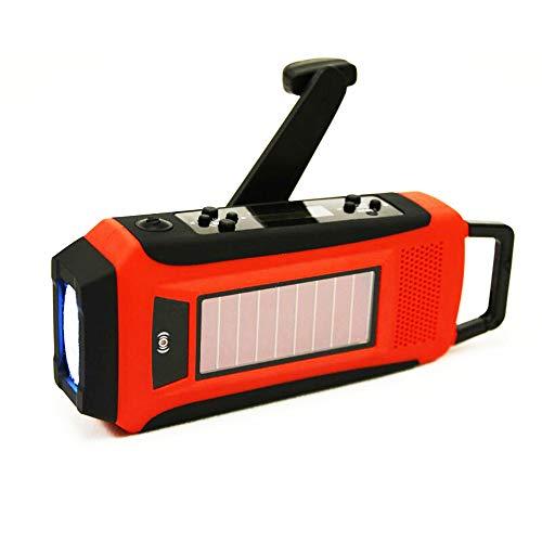 DETUCK (TM) ポータブルソーラーラジオ 便利で携帯式防災ラジオ FM/AM/WBラジオ バックバックルのデザイン LED照明懐中電灯 充電モード3つ 手回し充電 応急ソーラー発電 USB充電 スマートフォンを充電できる 防水 停電 地震 災害を防