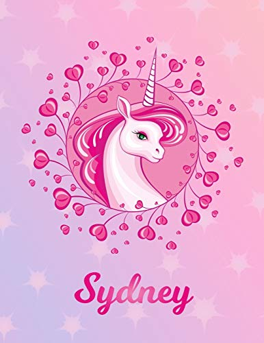 Sydney: Unicorn Sheet Music Note Manuscript Notebook Paper – Magical Horse Personalized Letter S Initial Custom First Name Cover – Musician Composer … Notepad Notation Guide – Compose Write Songs
