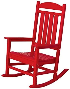 Best POLYWOOD R100SR Presidential Rocking Chair, Sunset Red