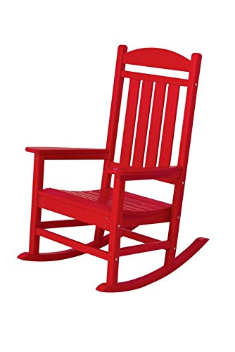 POLYWOOD R100SR Presidential Rocking Chair, Sunset Red
