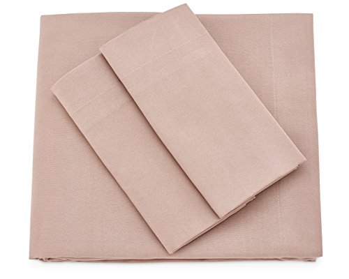 Cosy House Collection Premium Bamboo Sheets - Deep Pocket Bed Sheet Set - Ultra Soft & Cool Breathable Bedding - Hypoallergenic Blend from Natural Bamboo Fiber - 4 Piece - Cal King, Taupe