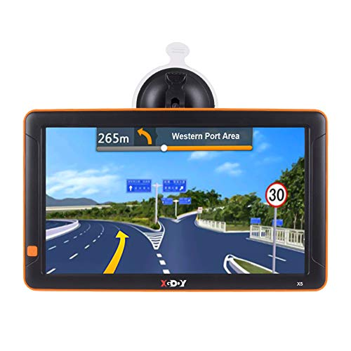 Truck GPS Xgody GPS Navigation 9' Inch Big Screen for Truck Drivers Navigation Bluetooth AV-in Lifetime North America Maps (USA + Canada) 3D & 2D Maps, 8GB, Turn by Turn Directions