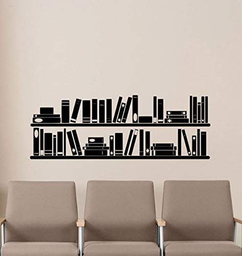 Boeken Boekenplank muur Vinyl Decal Lezen Kamer Bibliotheek School Klas Sticker Kantoor Thuis Kids Kamer Kwekerij Mural Poster 118 * 42Cm