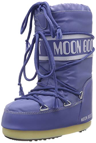 Moon-boot Nylon, Stivali da Neve Unisex-Adulto, Blu (Avio 078), 35 EU