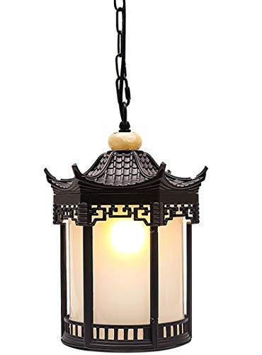 WERCHW Lámpara de Pared Exterior, la lámpara del Paisaje Impermeable Columna Park Street lámpara de jardín al Aire Libre de la Linterna Luces Pendientes