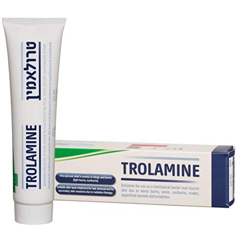 Trolamine - Salbe zur Behandlung von Verletzungen der Haut aufgrund von leichten Verbrennungen, wunden Stellen, Sonnenbränden, Verbrühungen, oberflächlichen Wunden und Kratzern.