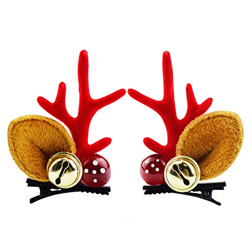 Christmas Hairpin Xmas Hair Clips Hair Accessories for Girl Reindeer Christmas Decorations Party Cosplay